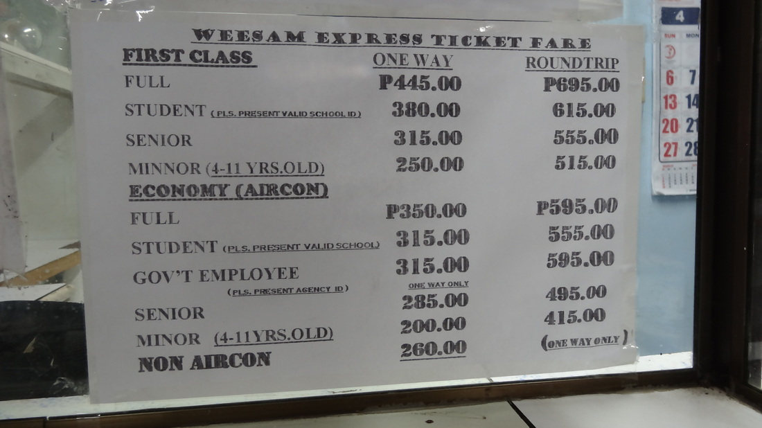 Fastcraft Schedule and Fares (Iloilo to Bacolod - Bacolod to Iloilo